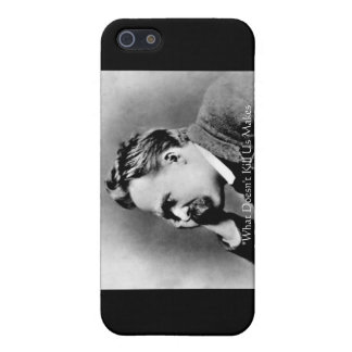 """Nietzsche """"Doesn't Kill U"""" Quote Gifts &  Case For The iPhone 5"""