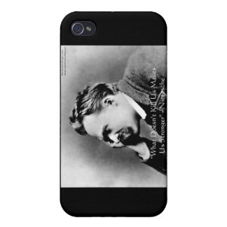 """Nietzsche """"Doesn't Kill U"""" Quote Gifts &  Cover For iPhone 4"""