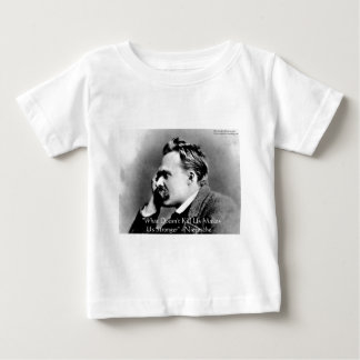 """Nietzsche """"Doesn't Kill U"""" Quote Gifts & Tees"""