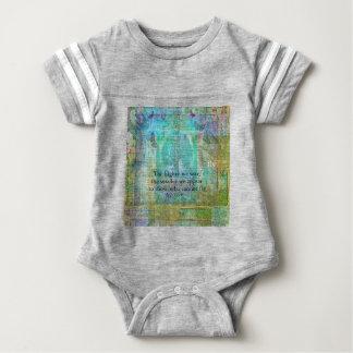 Nietzsche inspirational SOAR quote Baby Bodysuit