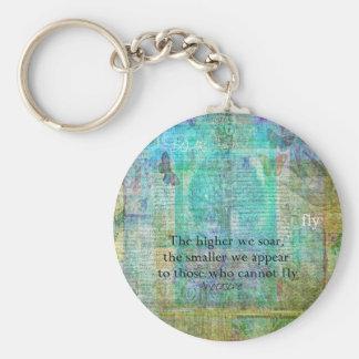 Nietzsche inspirational SOAR quote Key Ring