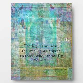 Nietzsche inspirational SOAR quote Plaque