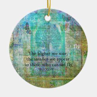 Nietzsche inspirational SOAR quote Round Ceramic Decoration