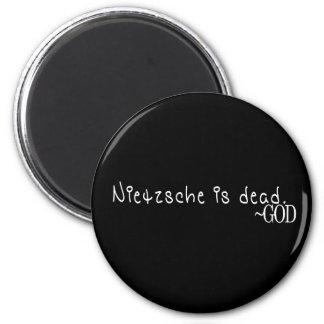 NIETZSCHE IS DEAD - GOD 6 CM ROUND MAGNET