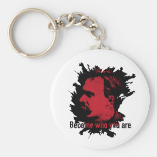 Nietzsche Keychain- Become Who You Are Key Ring