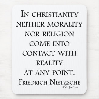 Nietzsche on christianity mouse pad