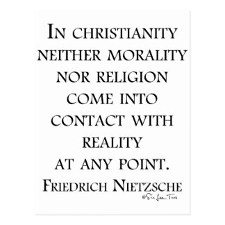 Nietzsche on christianity postcard