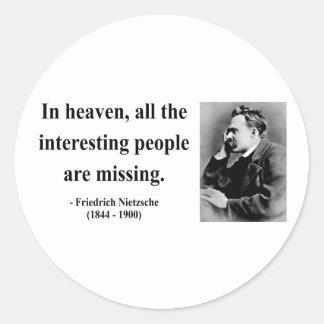 Nietzsche Quote 4b Classic Round Sticker