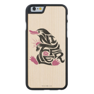 Niffler Typography Graphic Carved® Maple iPhone 6 Case