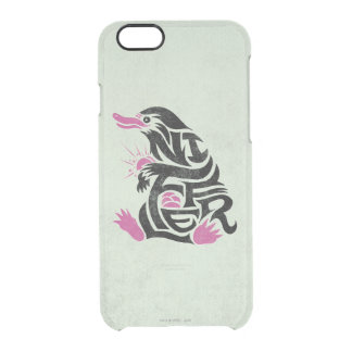 Niffler Typography Graphic Clear iPhone 6/6S Case