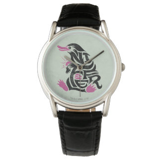 Niffler Typography Graphic Wrist Watches