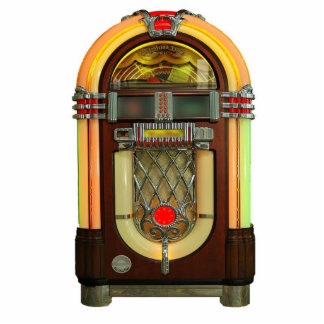 Nifty 50s Jukebox Ornament Photo Sculpture Decoration