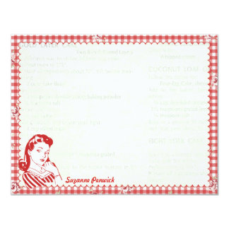 Nifty 50's Posie Gal Personalized Flat Note Cards 11 Cm X 14 Cm Invitation Card