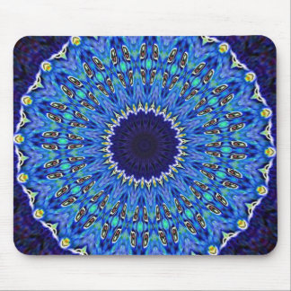 Nifty Blue Spiral Mouse Pad