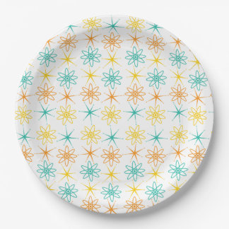 Nifty fifties - atoms and stars paper plate