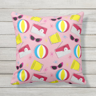 Nifty fifties - beach party pillow