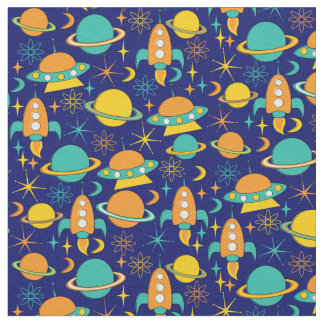 Nifty fifties - space age fabric dark