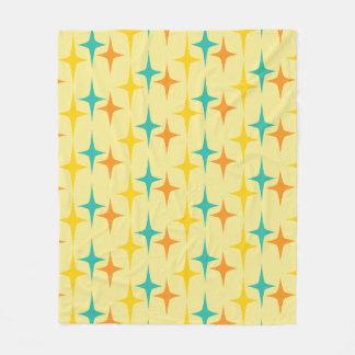 Nifty fifties - triple starburst fleece throw
