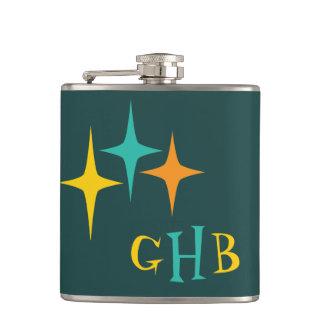 Nifty fifties - triple starburst hip flask