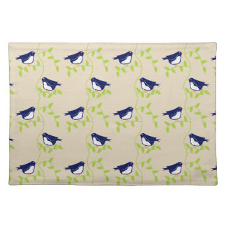 Nifty fifties - two blue birds placemat