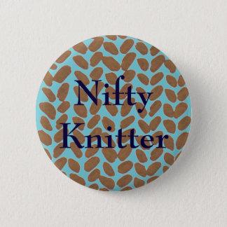 Nifty Knitter Golden Knitting Badge