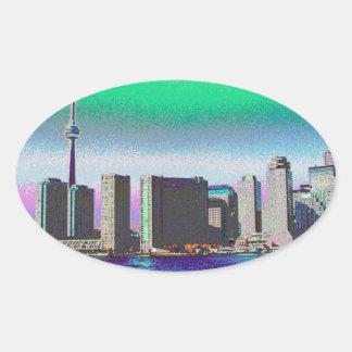 Nigara Falls Boat Sail Toronto CNTower CN Tower CA Oval Sticker