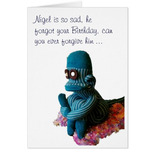 Nigel is Sad ... Card