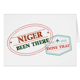 Niger Been There Done That Card