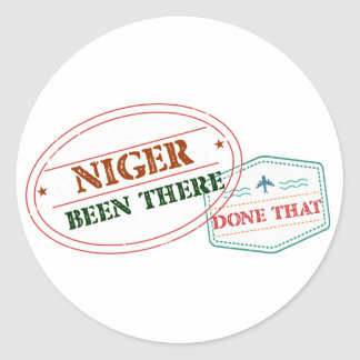 Niger Been There Done That Classic Round Sticker