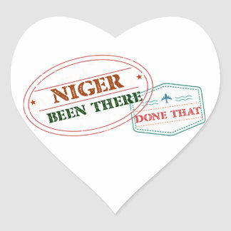 Niger Been There Done That Heart Sticker