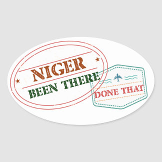 Niger Been There Done That Oval Sticker