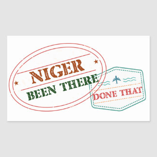 Niger Been There Done That Rectangular Sticker