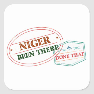 Niger Been There Done That Square Sticker