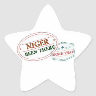 Niger Been There Done That Star Sticker