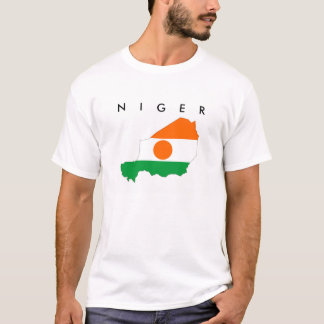 niger country flag map shape symbol T-Shirt