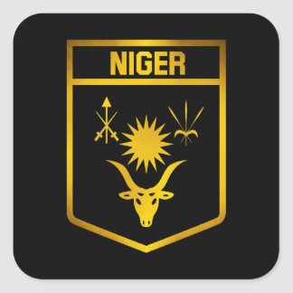 Niger Emblem Square Sticker