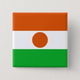 Niger Flag 15 Cm Square Badge