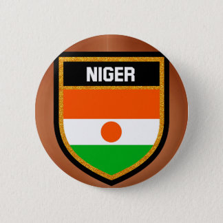 Niger Flag 6 Cm Round Badge