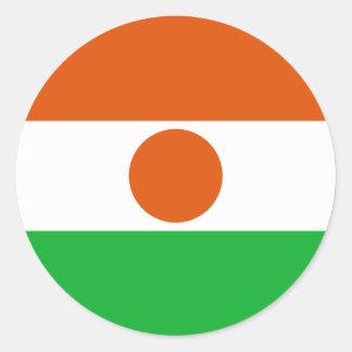 Niger Flag Classic Round Sticker