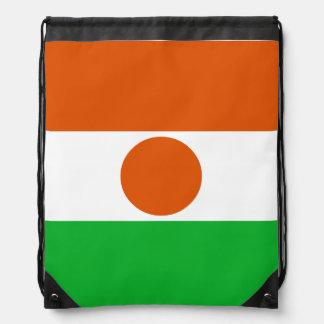 Niger Flag Drawstring Bag