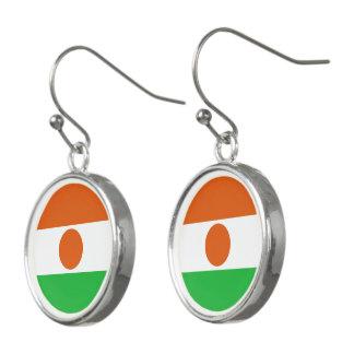Niger Flag Earrings