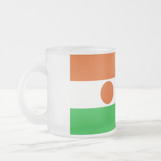 Niger Flag Frosted Glass Coffee Mug