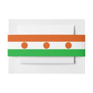 Niger Flag Invitation Belly Band