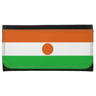 Niger Flag Leather Wallet For Women