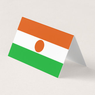 Niger Flag Place Card