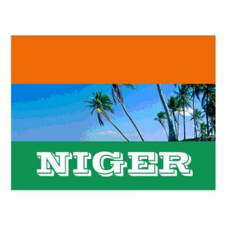 Niger flag postcard
