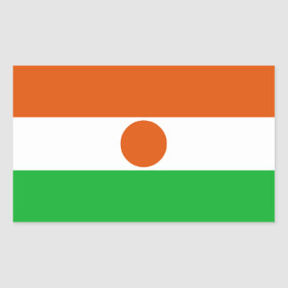 Niger Flag Rectangular Sticker