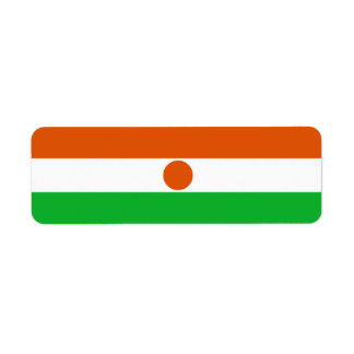 Niger Flag Return Address Label