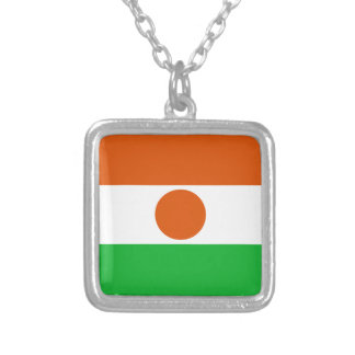 Niger Flag Silver Plated Necklace
