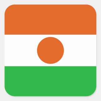 Niger Flag Square Sticker